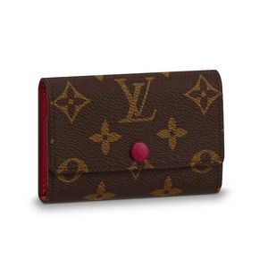 Louis Vuitton LV Monogram 6 Key Holder Fuschia